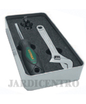 Adjustable Spanners + Screwdriver Handle 6 Bits Kit JC14863