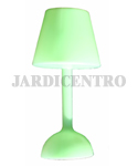Green Solar Power Lamp Bloom Daylight at Night